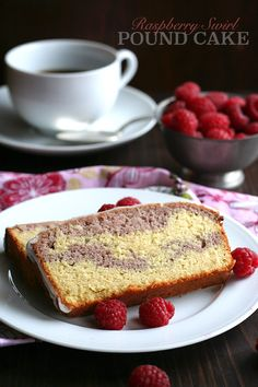 This low carb Raspberry Swirl Pound Cake is a much, much healthier grain-free copycat of the Starbucks treat. Enjoy with your morning coffee or afternoon tea. | All Day I Dream About Food