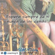 #Repost @coaching12 with @repostapp  Espera siempre de ti. Esperar de los demás siempre va a hacerte daño. Si quieres algo pídelo. Si quieres algo hazlo. No esperes. _________________________________ Mira lo que dicen de nuestro taller online ENCUENTRA EL AMOR! . Si he encontrado el Amor y es curioso porque tiene todas las cosas que escribí en la lista. Sé que este taller me ayudó a ver más positiva la vida a quererme más y a abrirme de verdad a conocer el Amor. Dentro de poco nos vamos a…