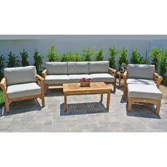 Willow Creek Designs Monterey 6 Piece Deep Seating Group with Cushion Fabric: Hardwood Crimson
