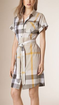 Explore our selection of women's dresses and jumpsuits at Burberry. Shop tailored dresses, lace-trim silk slips and jersey gowns with handworked embellishment. Stylish Dresses For Girls, Casual Dresses, Fashion Dresses, Shirtdress Outfit, Jumpsuit Dress, Cotton Shirt Dress, Cotton Dresses, Ladies Shirt Dress, Dress Shirt