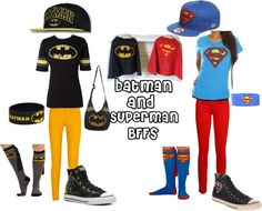 """""""Batman and Superman"""" by spenguin on Polyvore"""
