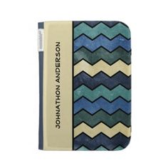 A modern manly blue chevron pattern in shades of ivory and blue in a stone washed grunge style. Personalize by adding your name. Perfect men fashion for the trendy and stylish man.