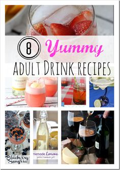 8 Delicious Adult Drink Recipes