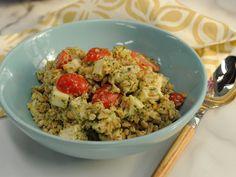 Pesto Farro with Chicken, Smoked Mozzarella and Tomatoes Recipe : Katie Lee : Food Network - FoodNetwork.com