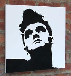 morrissey stencil. gosh he's beautiful.