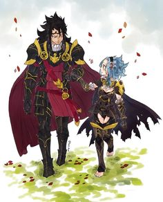 Fairy Tail Gajeel and Levy as Fire Emblem Fates characters: Xander and Female Corrin! Fairy Tail Levy, Fairy Tail Ships, Rog Fairy Tail, Fairy Tail Amour, Anime Fairy Tail, Fairy Tail Guild, Fairytail, Nalu, Jerza