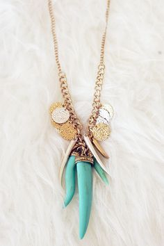 The Bastille Necklace - Turquoise from Page 6 Boutique