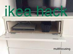 Organising your tv unit in an Ikea Malm cupboard.