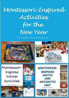 Montessori Monday - Montessori-Inspired Activities for the New Year | LivingMontessoriNow.com