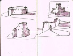 Croatian Castles   Moleskine art, drawing, pen and ink