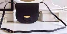 Celine Trotteur Bag Litchi Leather CTA4298 Black