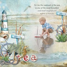 Page by Atusia using the The sea by ML Designs