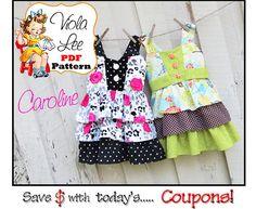Caroline... Girl's Dress Pattern Girl's Dress by ViolaLeePatterns