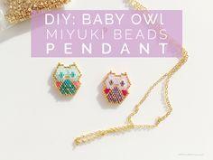 DIY: Baby Owl Miyuki Perles Pendentif | Petit Bout de Chou