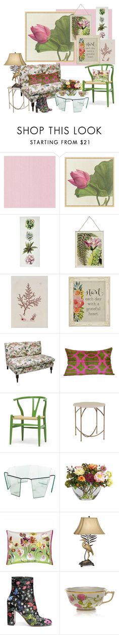 """""""Loving Botanicals With a Grateful Heart..."""" by kimberlyd-2 ❤ liked on Polyvore featuring interior, interiors, interior design, home, home decor, interior decorating, Pottery Barn, Campbell's Melange, Skyline and Orientalist Home"""