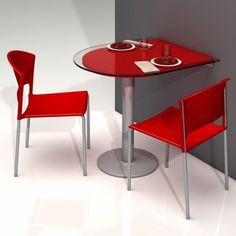 table de cuisine d 39 appoint en verre fixation plan de travail hauteur 90 cm mercury 2. Black Bedroom Furniture Sets. Home Design Ideas