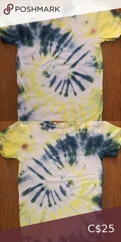 Youth Tie dye T-shirt size Medium My 9 year old ambitious daughter decided she wanted to open her own tie dye business and would like to give $5 for each piece sold to the food bank in her community.   Her name is Diana and she designs all her own clothing.   They are brand new and never been worn. Custom orders welcome.  Help support little dreams! Shirts & Tops Tees - Short Sleeve Tie Up Shirt, Tie Dye Shorts, Dye T Shirt, Kids Tie Dye, Kids Ties, Shirts For Girls, Kids Shirts, Pineapple Shirt, Under Armour Girls