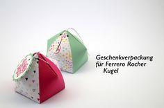 Eine Rocher Geschenkbox habe ich heute auf dem blog. Im Anleitungs Video zeige ich wie schnell und einfach sich diese Box basteln läßt. Infos anfordern