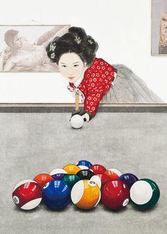 You can see asian pop artist Kim Hyun-Jung's artworks and activities. Line Art Projects, Unique Art Projects, Billard Snooker, Line Art Lesson, Black Art Tattoo, Korean Illustration, Korean Painting, Fantasy Art Men, Art Studio At Home