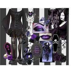 """""""Death is sweet"""" by octoburfrost on Polyvore #goth #gothic #gothgoth…"""