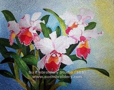 Chinese Suzhou silk embroidery, hand embroidered painting, silk thread art, Su embroidery artwork from China from Su Embroidery Studio