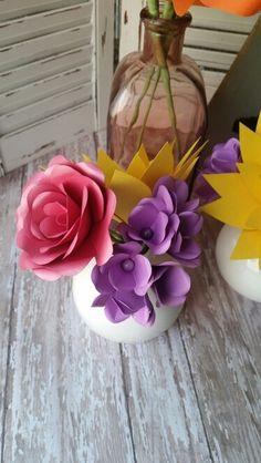 Paper Rose and Hydrangeas. Shop more at https://squareup.com/store/azilorchids