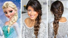 Frozen Elsa's Braid Hair Tutorial | Luxy Hair - long thick hair, check! I can do a loose french braid.