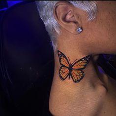 Neck Tattoos Women, Girl Neck Tattoos, Baby Name Tattoos, Girly Tattoos, Pretty Tattoos, Body Art Tattoos, Small Tattoos, Tatoos, Thigh Tattoos