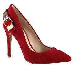 e56757f3626e ALDO Elphea - Women High Heel Shoes - Red Suede - Aldo Heels