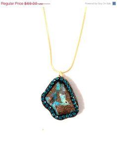 VSALE Boulder Opal and indicolite Crystal by YaronaJewelryDesign, $62.10
