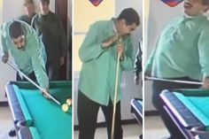 ¡DESCARADO! Maduro juega billar mientras venezolanos continúan esperando nuevo cono monetario (fotos) - http://www.notiexpresscolor.com/2016/12/29/descarado-maduro-juega-billar-mientras-venezolanos-continuan-esperando-nuevo-cono-monetario-fotos/