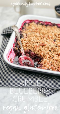 Vegan Apple Blueberry Crumble | Gluten-Free via @eyecandypopper