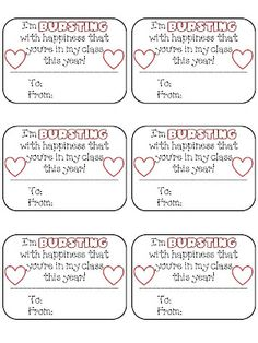 I am making these for my sweet Kinders this year... - First Grade FUNdamentals!: Bursting With Happiness FREEBIE!