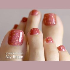 Autumn Transparent Wedding Bride Toe Nail Colors Peach Mable Nails - in 2020 Fall Toe Nails, Pretty Toe Nails, Cute Toe Nails, Autumn Nails, Toe Nail Color, Toe Nail Art, Nail Colors, Nail Nail, Bride Nails