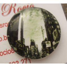 Cabujón de cristal circular 25 mm modelo 23