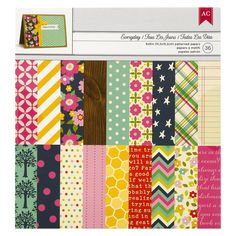 American Crafts Everyday Paper Pad-6x6-36 Sheets