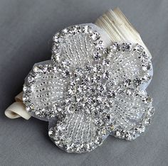 Hey, I found this really awesome Etsy listing at https://www.etsy.com/listing/175347059/rhinestone-applique-bridal-accessories