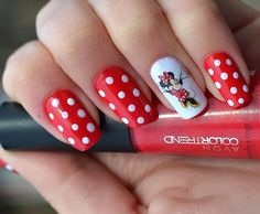 10 Simple and Easy Nail Art Designs: Dot Nails with Mickey Mouse