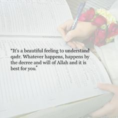 beautiful that Qadr [pre-destiny] is one of the pillars of faith in Islam <3