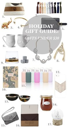 Gift Guide: Gifts Under $30 | Sacramento Street | #gifts #gifting #holidays