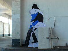 Arte romântica, sensual e provocante- Claire Street Art;