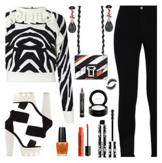 """""""Black & White"""" by deborah-calton ❤ liked on Polyvore featuring STELLA McCARTNEY, Proenza Schouler, Givenchy, L'Oréal Paris, MAC Cosmetics, OPI and NYX"""