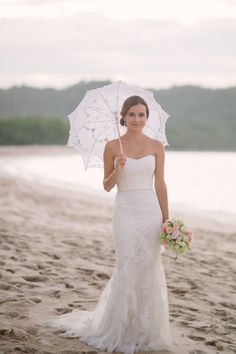 Ivory Mermaid Strapless Allover Lace Beach Wedding Dress Sweetheart Neck