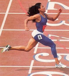 FloJo - for motivation when I'm running really, really fast (but not nearly as fast as her 21 mph!) with hair flying.