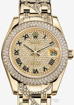 Rolex lady  pearlmaster diamond dial ,bezel and flame bracelet saved by Antonella B.Rossi