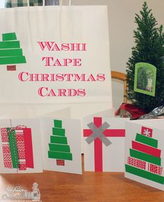 Washi Tape Christmas Cards #ScotchExpParty @Scott Doorley Buxman @Allison j.d.m House Party