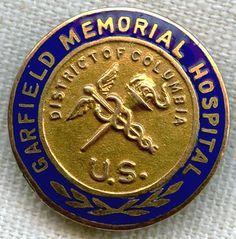 SOLD!!! 1947 Garfield Memorial Hospital (D.C.) Nursing Graduation Pin by John Frick Co. 10K