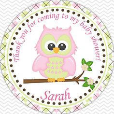 Owl Pink Baby Shower Personalized Hershey Kiss by sharenmoments