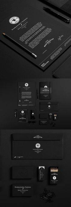 Branding - Media Production - There's nothing more elegant than a well done black and white branding