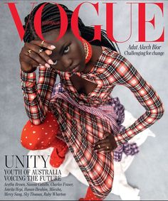 "107.2 k mentions J'aime, 1,001 commentaires - Adut Akech Bior (@adutakech) sur Instagram : ""Feeling very thrilled and proud of this cover @vogueaustralia ""Unity"" August Issue cover 💥  Shot…"""